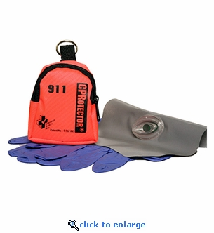 Certified Safety CPRotector with Gloves & Key Ring Micro Pouch