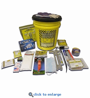 Deluxe Honey Bucket Emergency Kit - 1 Person
