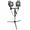 Dual Head Halogen Work Light 1000 watt - 7' Tripod Stand