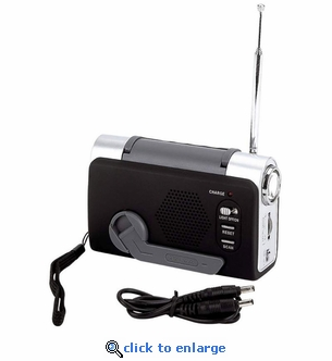 Dynamo Crank Radio AM/FM Radio with LED Light