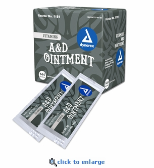 Dynarex 1151 Vitamin A&D First Aid Ointment 5g Packets - Case of 144