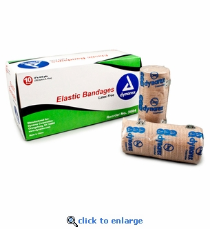 Dynarex 3664 Elastic Bandages 4'' x 4.5 yds. Box of 10