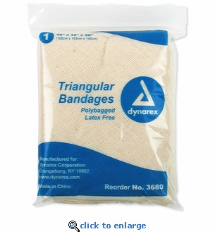 Single - Dynarex 3680 Triangular Bandage with Safety Clips - 40
