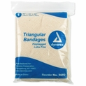 "Single - Dynarex 3680 Triangular Bandage with Safety Clips - 40"" x 40"" x 56"""