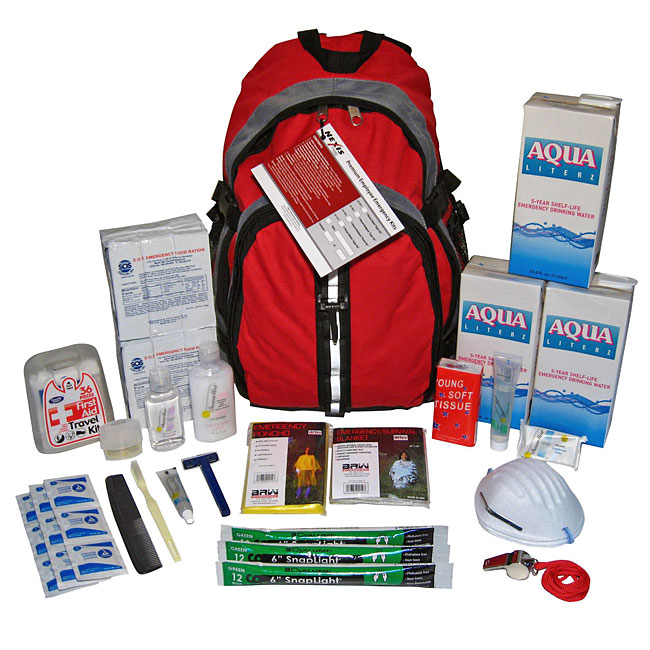 Earthquake Zone 3 Day Staff Backpack Survival Kit