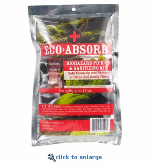 ECO>Absorb Biohazard Pick Up & Sanitizing Kit