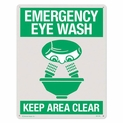 "Emergency Eye Wash Sign Rigid Plastic  8"" x 10"""