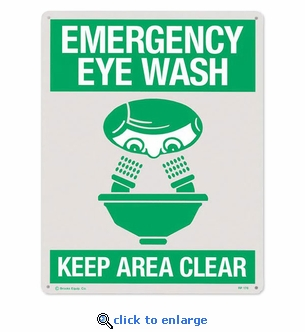 Emergency Eye Wash Sign Rigid Plastic  8