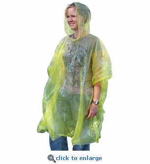 Emergency Rain Poncho with Hood