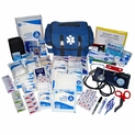 EMT Style First Responder Medical Kit - 373 Pieces - Navy Bag