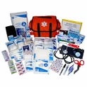 EMT Style First Responder Medical Kit - 373 Pieces - Orange Bag