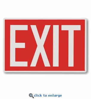 Exit Sign - Silk Screened on Rigid Plastic  - 12