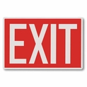"Exit Sign - Silk Screened on Rigid Plastic  - 12"" x 8"""
