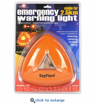 2 Pack - EZ Flare Emergency Warning Light - 1 Mile Visibility