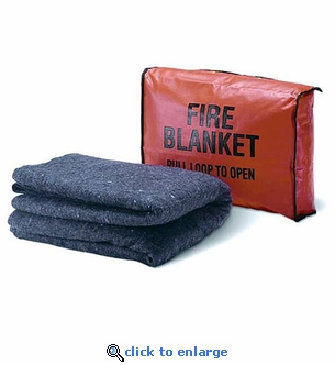 Fire Blanket with Case Wall Mount