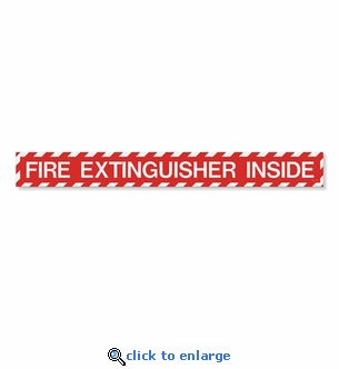 Fire Extinguisher Inside Label - Vinyl Self-Adhesive - 18
