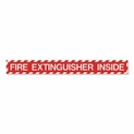 "Fire Extinguisher Inside Label - Vinyl Self-Adhesive - 18"" x 2"""