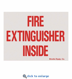 Fire Extinguisher Inside Sticker Labels - Vinyl Self-Adhesive - 4