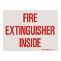 "Fire Extinguisher Inside Sticker Labels - Vinyl Self-Adhesive - 4"" x 3"""