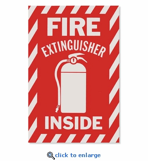 Fire Extinguisher Inside Signs- Vinyl Self-Adhesive - 6