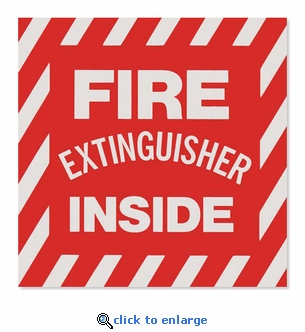 Fire Extinguisher Inside - Vinyl Self-Adhesive Sticker- 4