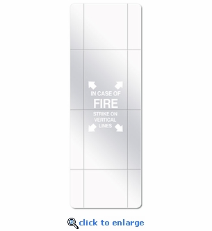FireTech Fire Extinguisher Cabinet Replacement Panels - Scored Plexiglass
