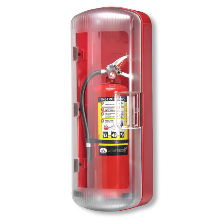 FireTech FT101 ABS Fire Extinguisher Cabinet   Fire Extinguisher Cabinets  Covers Nice Look