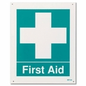 "First Aid Sign - Rigid Plastic - 8"" x 10"""