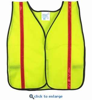 Fluorescent Yellow Safety Vest with Reflective Stripes