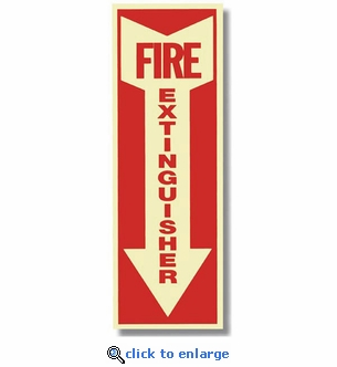 Glow In The Dark Fire Extinguisher Arrow Sign - 4