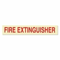 "Glow In the Dark ""Fire Extinguisher"" Label - Vinyl Self-Adhesive - 6"" x 1"""