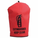 "Heavy Duty Fire Extinguisher Cover - Medium - 25"" x 16.5"""