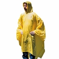 Heavy Duty Vinyl Poncho with Hood 70'' x 90''