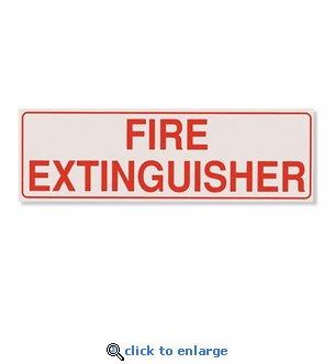 Horizontal Fire Extinguisher Decal For Cabinets, 2 1/4