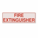 "Horizontal Fire Extinguisher Decal For Cabinets, 2 1/4"" x 7 1/8"""