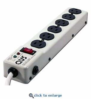 Industrial 6-Outlet Power Strip with Surge Protector