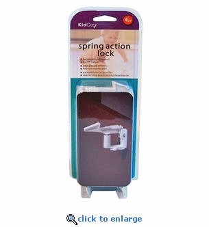 KidCo Spring Action Cabinet & Drawer Lock 4-Pack