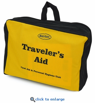 KT-TRV - Traveler's Aid - 73 Piece First Aid Personal Hygiene Kit