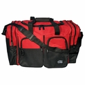 Large Red Duffle Bag - 26'' x 14'' x 13''