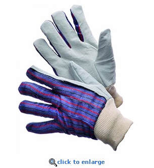 Light Duty Leather Palm Work Gloves Pair