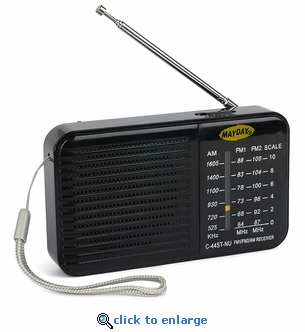 Mayday AM/FM Emergency Radio with Batteries