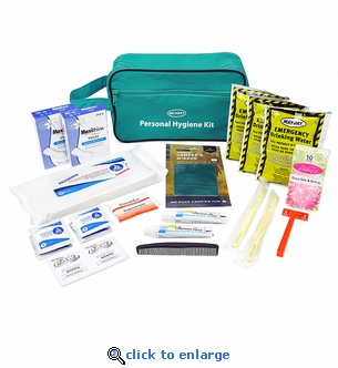 Mayday Deluxe Personal Hygiene Kit in Zippered Carry Bag