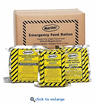 Case of 20 - Mayday Emergency Food Bars 3600 Calorie