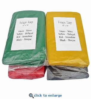 Mayday Heavy Duty Triage Tarps - Set of 4