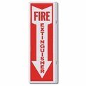 "Metal 4"" x 12"" 90 Degree Fire Extinguisher Arrow Sign"