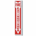 "Metal 4"" x 18"" 90 Degree Fire Extinguisher Arrow Sign"
