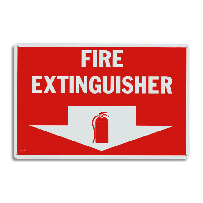 New Metal Fire Extinguisher Arrow Sign - 12