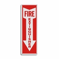 "Metal Fire Extinguisher Arrow Sign - 4"" x 12"""