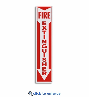 Metal Fire Extinguisher Arrow Sign - 4