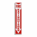 "Metal Fire Extinguisher Arrow Sign - 4"" x 18"""